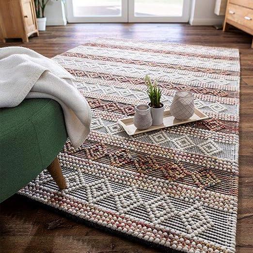 Luxor Living Handwebteppich Aalborg Wollteppich Handarbeit