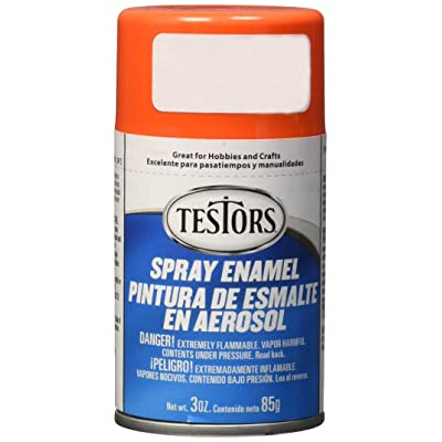 Testors TENAMEL-1628 Aerosol Enamel Paint 3oz-Orange: Arts, Crafts & Sewing