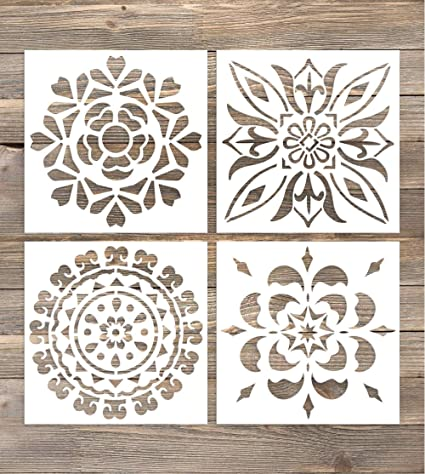 Amazoncom GSS Designs Pack Of Wall Stencils X Inch Laser - 6x6 wall tile patterns