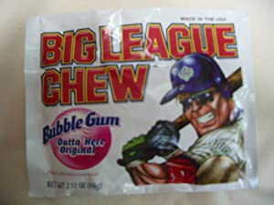 BIG League Chew Baseball Bubble Gum Original Flavor (6 count)