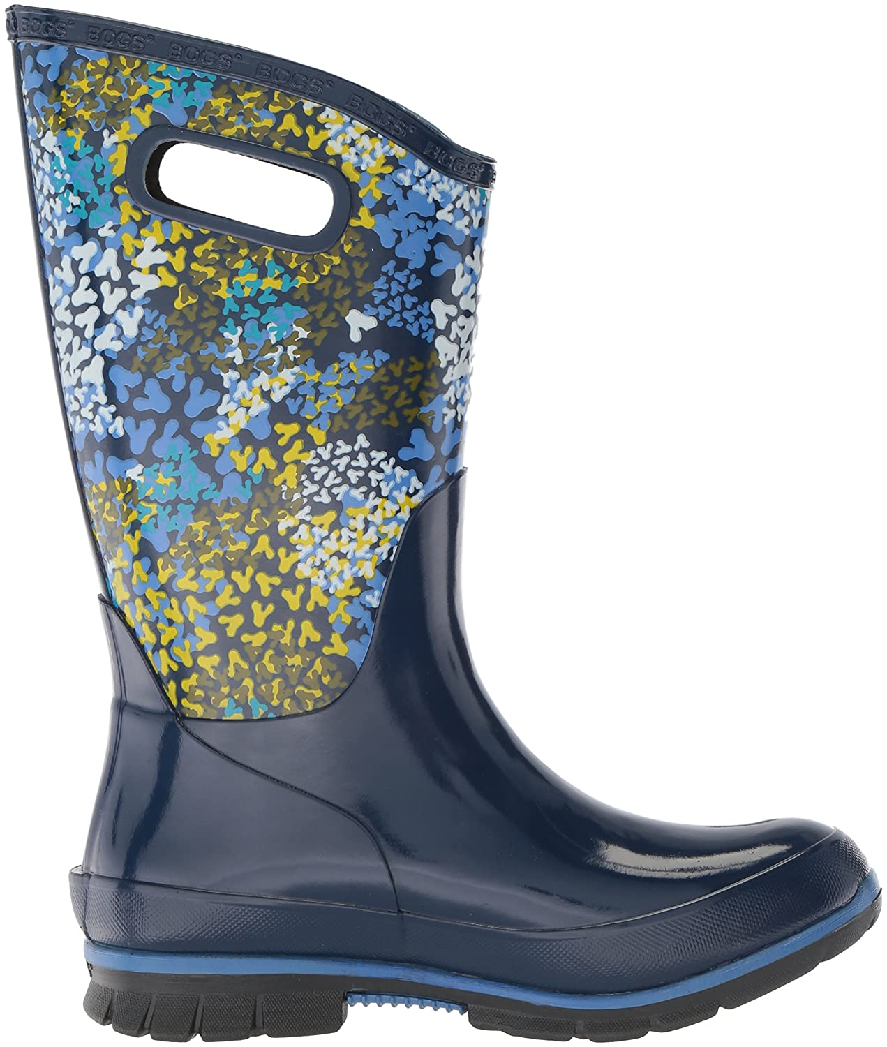 Bogs Women's B073PJFM1H Berkley Footprints Rain Boot B073PJFM1H Women's 8 B(M) US|Blue/Multi b15930