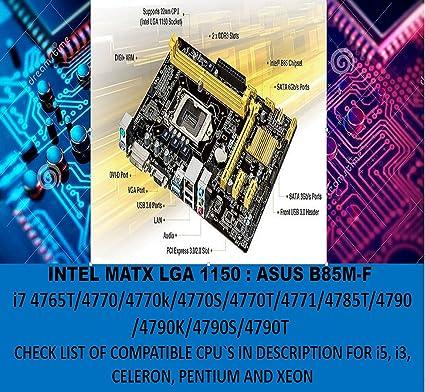 Amazon com: L@@K ASUS B85M-F OR K Intel B85 MATX Motherboard