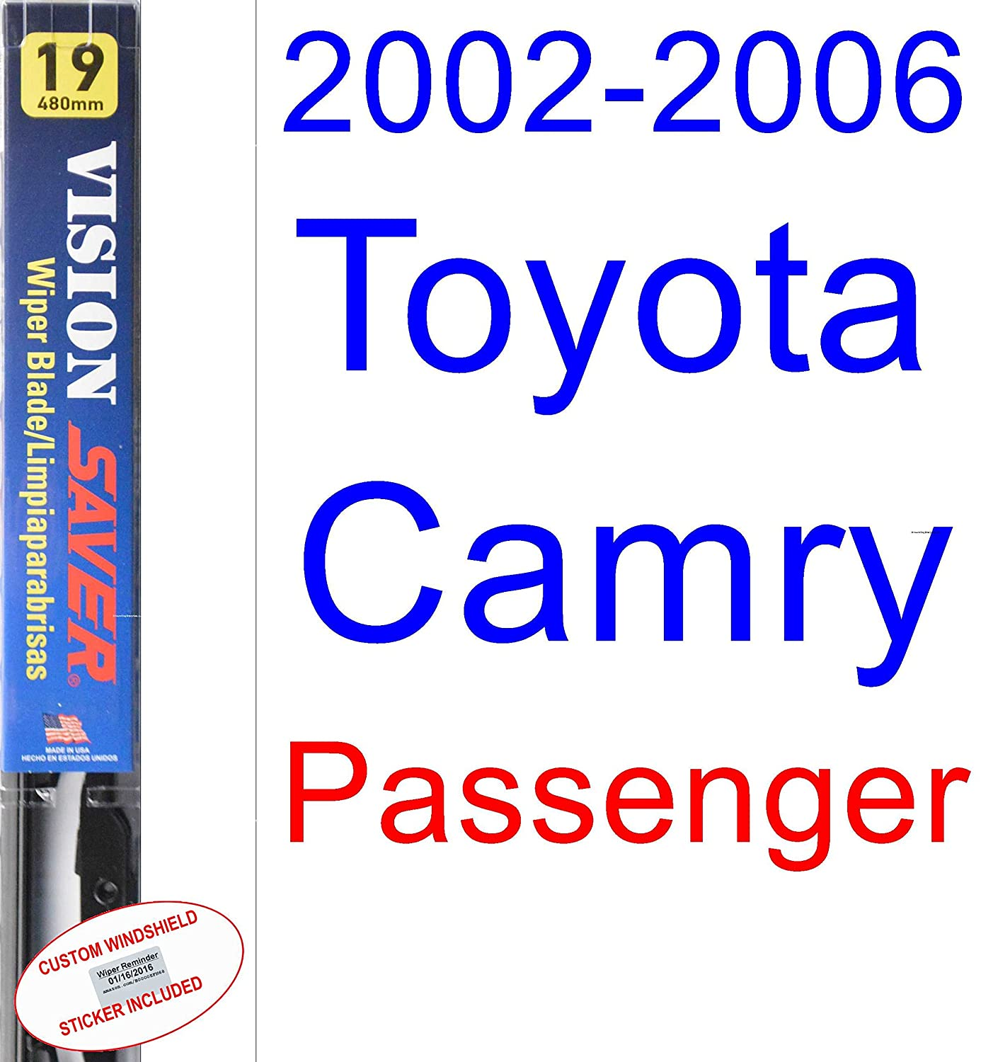 Amazon.com: 2002-2006 Toyota Camry Wiper Blade (Driver) (Saver Automotive Products-Vision Saver) (2003,2004,2005): Automotive