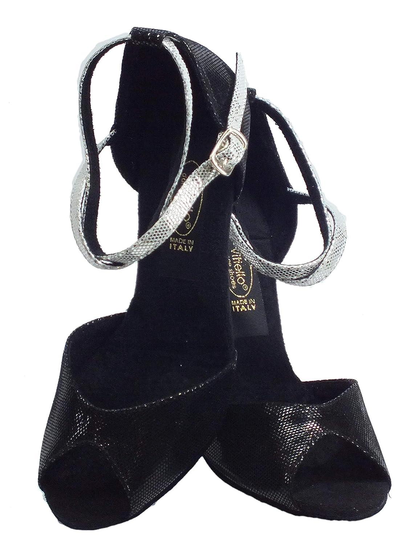 Vitiello Vitiello Vitiello Dance schuhe Sandalo satinato schwarz Damen Tanzschuhe Schwarz schwarz 80706b