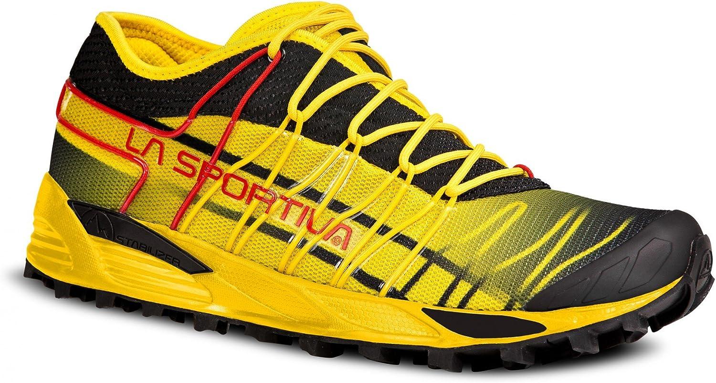 La Sportiva M Mutant - Zapatillas de Running para Hombre, Color Negro, Amarillo, Talla 44.5: Amazon.es: Zapatos y complementos