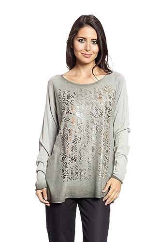 Abbino 0005 Camisas Blusas Tops para Mujer - Hecho en Italia - 8 Colores - Verano Otoño Invierno Muj...