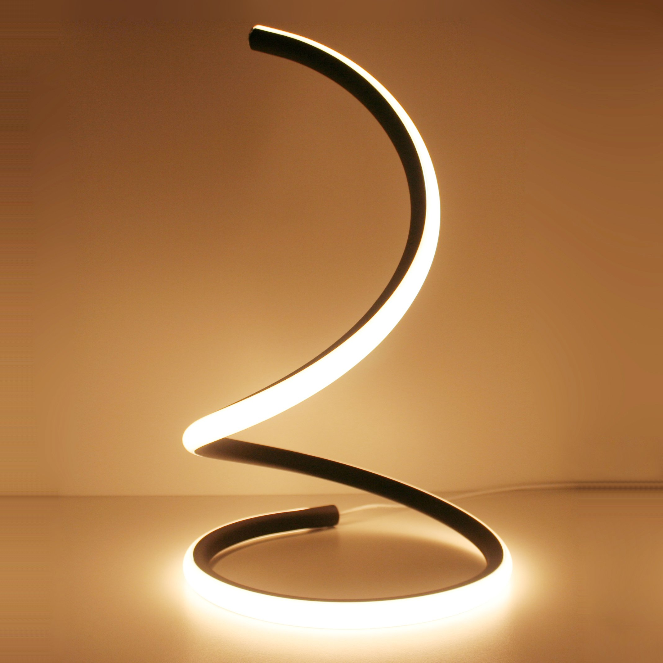 Furniture Light Bulbs Beautiful Photo Led Light Bulbs For: Spiral LED Table Lamp Curved Desk Light Minimalist Warm