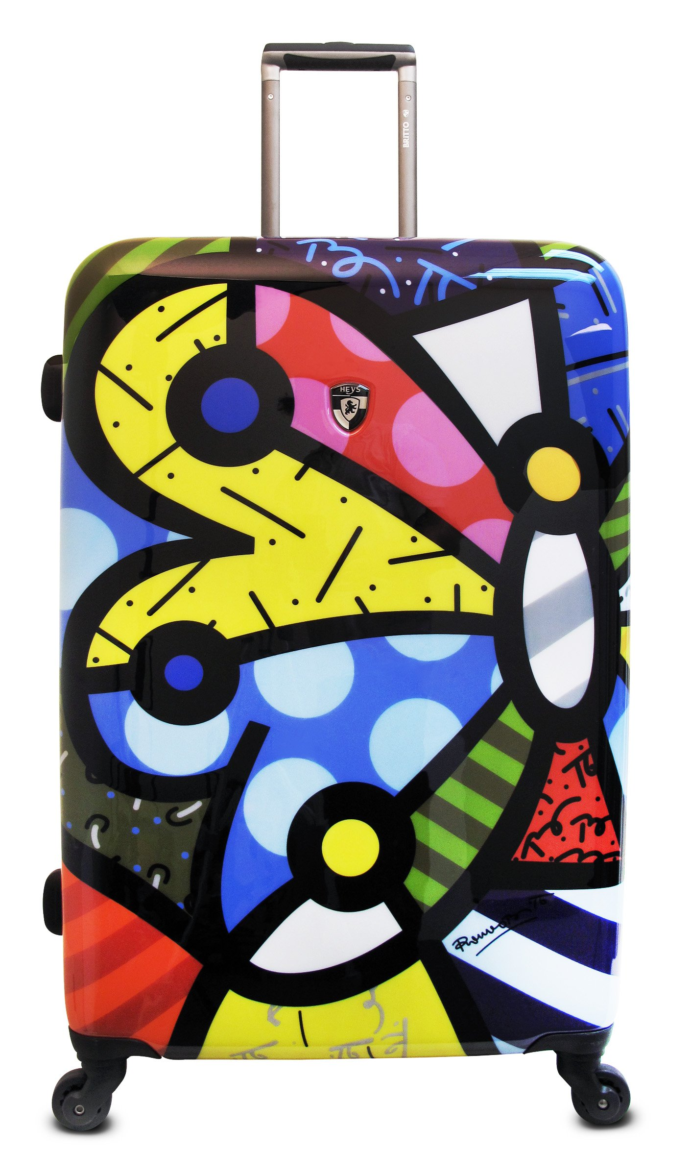 Heys USA Luggage Britto Butterfly 30 Inch Hardside Spinner, Butterfly, 30 Inch by Heys