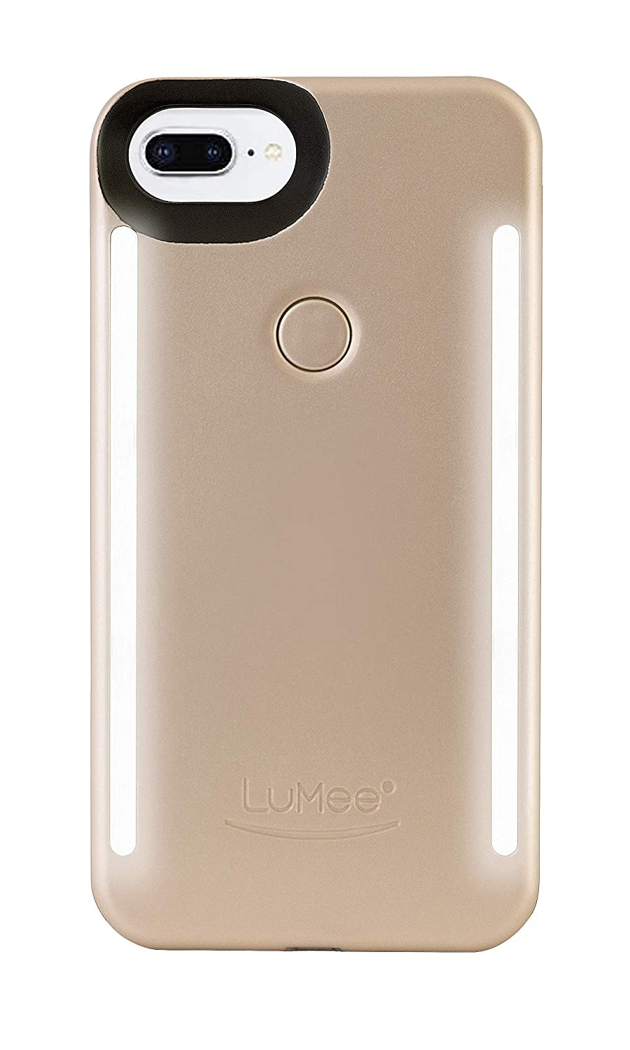new style ba527 3df0c LuMee Duo Phone Case, Gold Matte | Front & Back LED Lighting, Variable  Dimmer | Shock Absorption, Bumper Case, Selfie Phone Case | iPhone 8+ /  iPhone ...