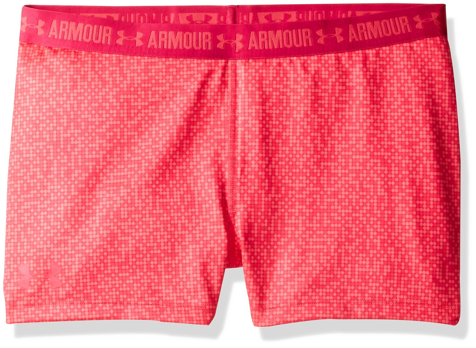 Under Armour Girls' HeatGear Armour Printed 3'' Shorty,Gala /Gala, Youth Large by Under Armour