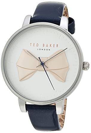 5043f44bc Ted Baker Women s Brook Stainless Steel Quartz Watch with Leather Strap