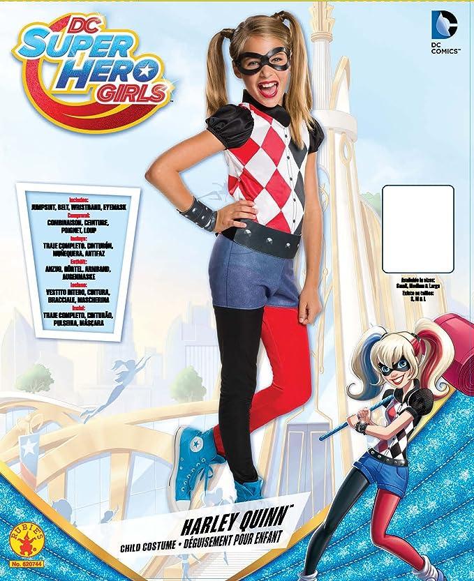 DC Comics - Disfraz de Harley Quinn classic para niña, infantil talla 3-4 años (Rubies 620744-S)