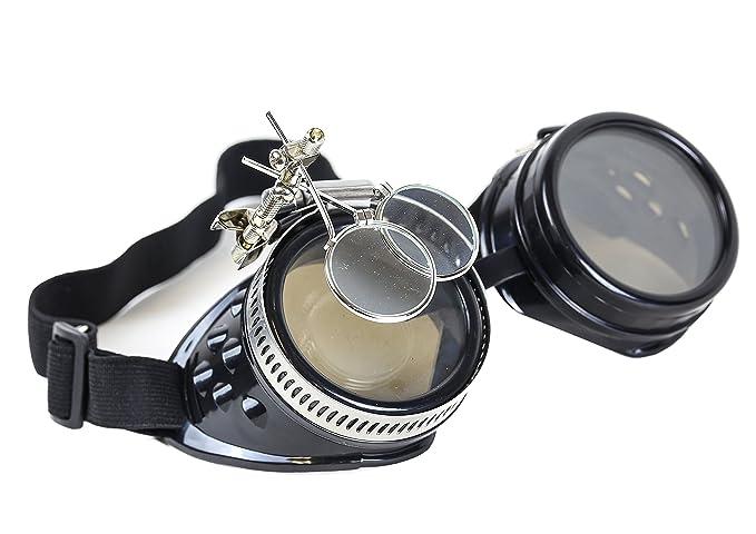 Amazon.com: Steampunk Victorian anteojos de soldadura lente ...