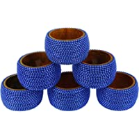 Handmade Indian Aluminum Ball Chain Wooden Napkin Rings