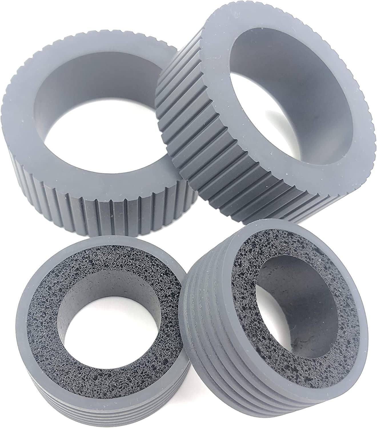 OKLILI PA03540-0001 PA03540-0002 Brake and Pick Pickup Roller Tire Kit Compatible with fi-6130 fi-6130Z fi-6140 fi-6140Z fi-6230 fi-6230Z fi-6125 fi-6225 ix500 ix1500 81BsnRrgpyL