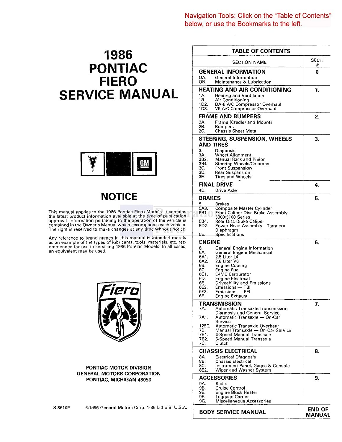 1986 Pontiac 6000 Wiring Diagram
