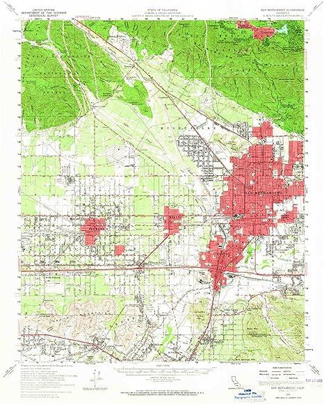 Amazon.com: YellowMaps San Bernardino CA topo map, 1:62500 Scale, 15 on