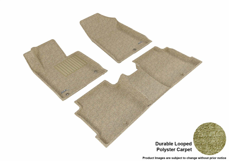 L1HY05112209 Classic Carpet Black 3D MAXpider Front Row Custom Fit Floor Mat for Select Hyundai Sonata Models