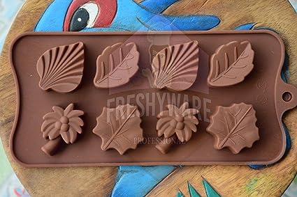 Amazon.com: freshyware 8 Cavidad de Jello Island hoja molde ...