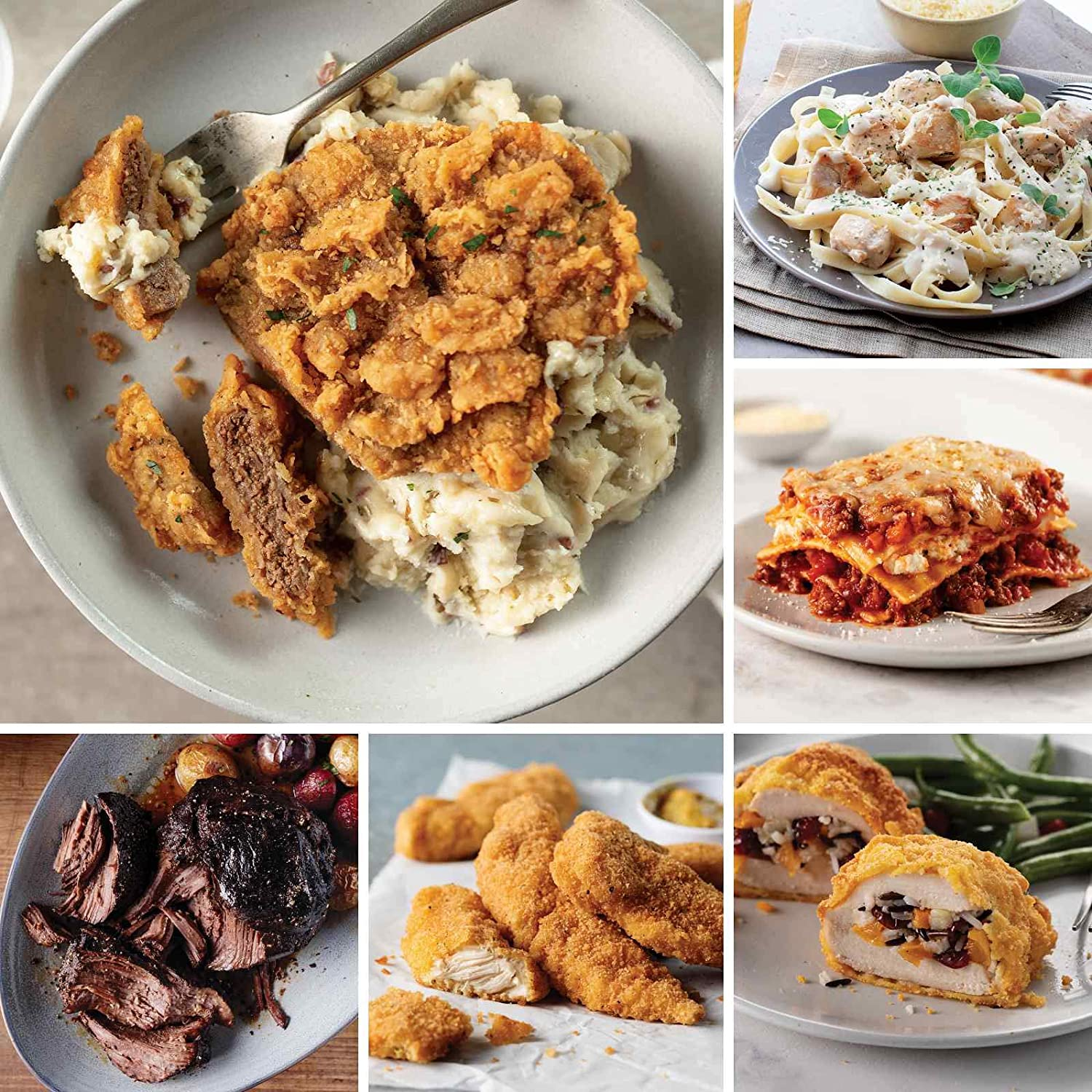 Great Meals Assortment from Omaha Steaks (Chicken Fried Steaks, Fully Cooked Pot Roast, Italian Chicken Fingers, Stuffed Chicken with Wild Rice, Meat Lover's Lasagna, and more)