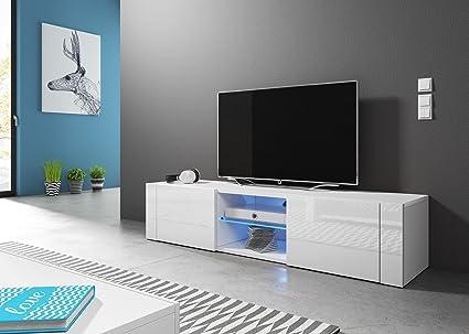 Vivaldi hit mobile tv design bianco opaco con bianco lucido
