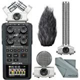 Zoom H6 Handy Portable Recorder and Zoom SGH-6 Shotgun Microphone Capsule Bundle
