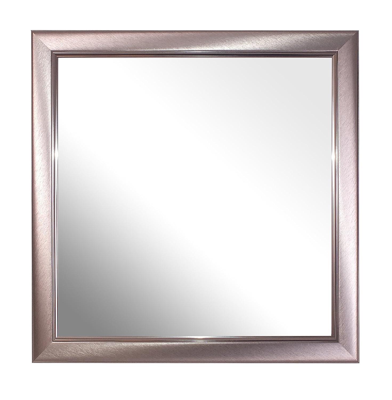 Inov8 Spiegel Rahmen gebürstet Kleine Zinn 12 x 12 4 Stück, Grau, 4 ...