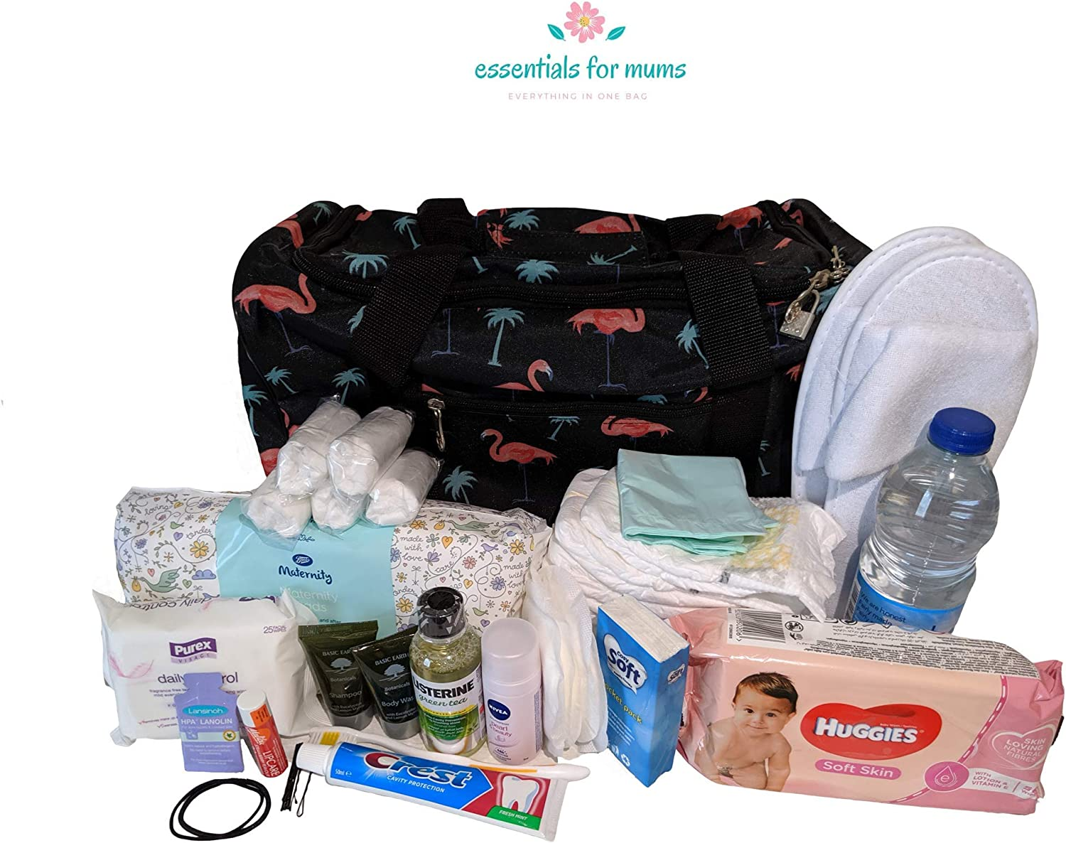 Pre Packed Maternity Hospital Changing Bag Essentials for Mum /& Baby Birth Bag