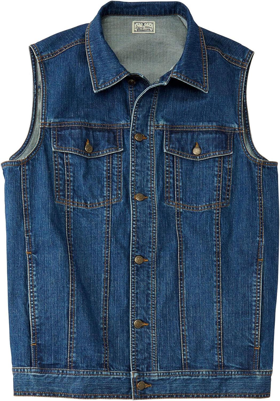 Liberty Blues Mens Big /& Tall Denim Vest