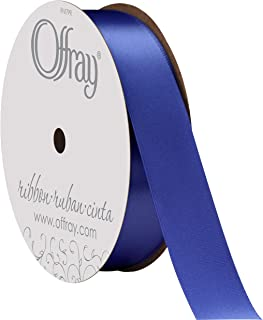 """product image for Berwick Offray 7/8"""" Wide Double Face Satin Ribbon, Royal Blue, 20 Yards"""