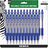 Zebra Pen Z-Grip Retractable Ballpoint Pen, Medium Point, 1.0mm, Blue Ink, 24 Pack (Packaging may vary)