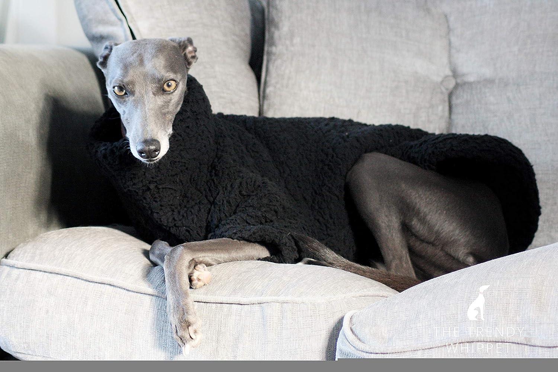The Trendy Whippet Saluki Sighthound - Pijama de Forro Polar, diseño de Galgo, Color Negro: Amazon.es: Productos para mascotas