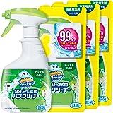 【まとめ買い】 スクラビングバブル 浴室・浴槽洗剤 99.9% 除菌バスクリーナー アップルの香り 本体1本+つめかえ用3個セット 400ml+350ml×3個