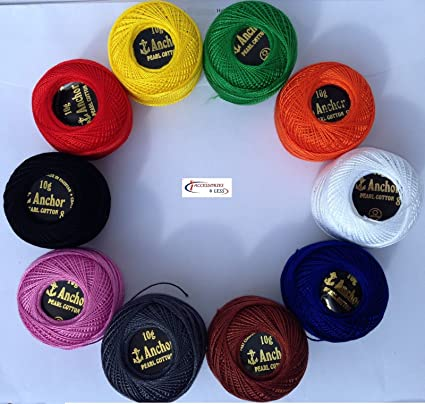 6 Pink Anchor Cotton Thread Skeins 8m embroidery floss basic demanding color