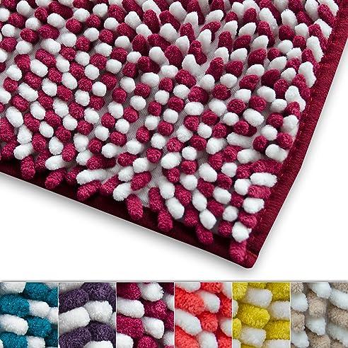 Chenille Badematte Manta | Moderner Microfaser Badvorleger In Trendfarben |  ÖKO TEX Standard 100 | Extra