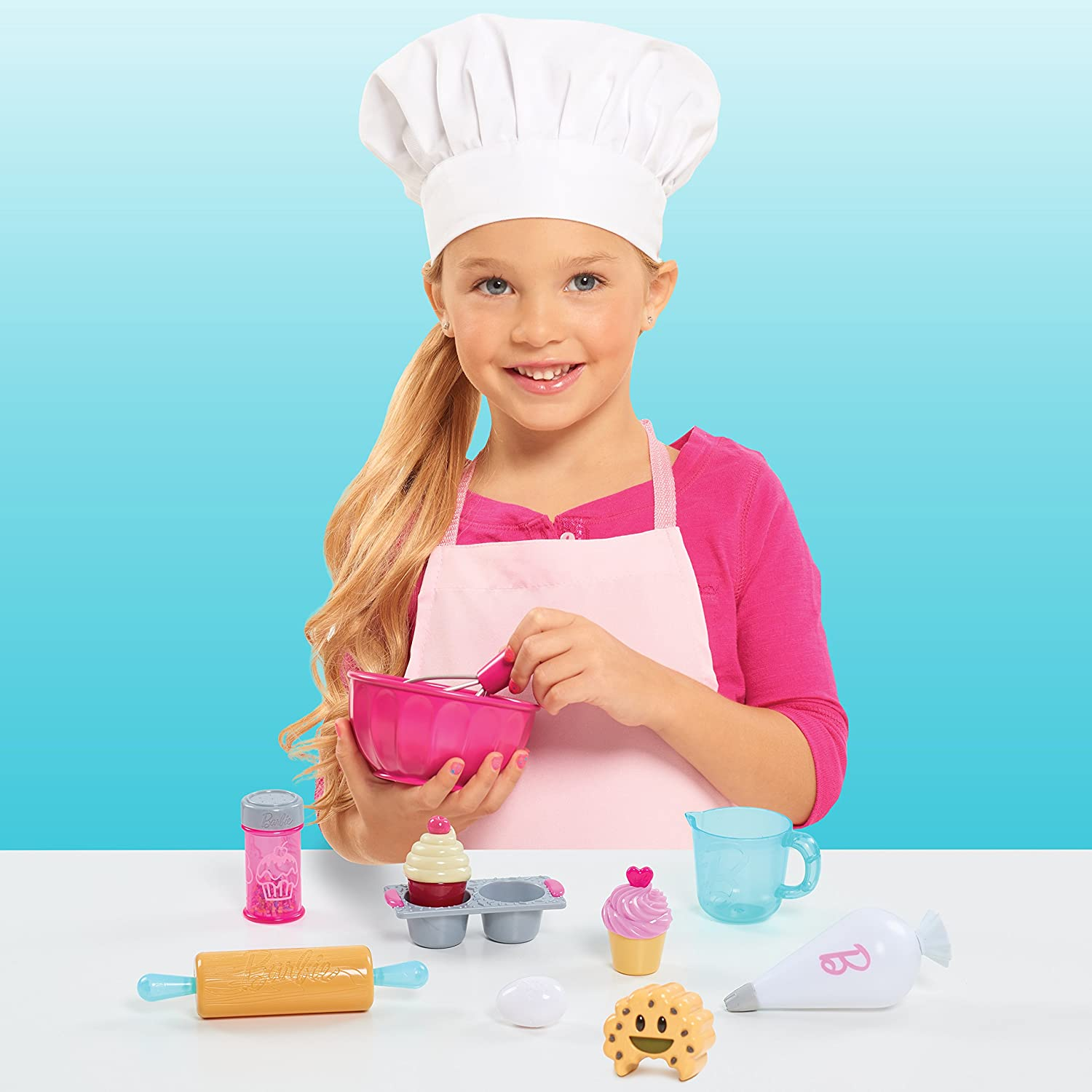 Amazon.com: Barbie Just Play 61851 0 Pastry Set: Toys & Games