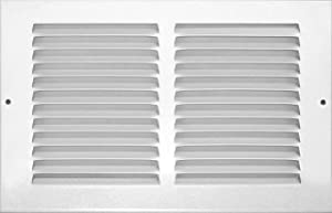 Accord ABRGWH106 Return Grille with 1/2-Inch Fin Louvered, 10-Inch x 6-Inch(Duct Opening Measurements), White
