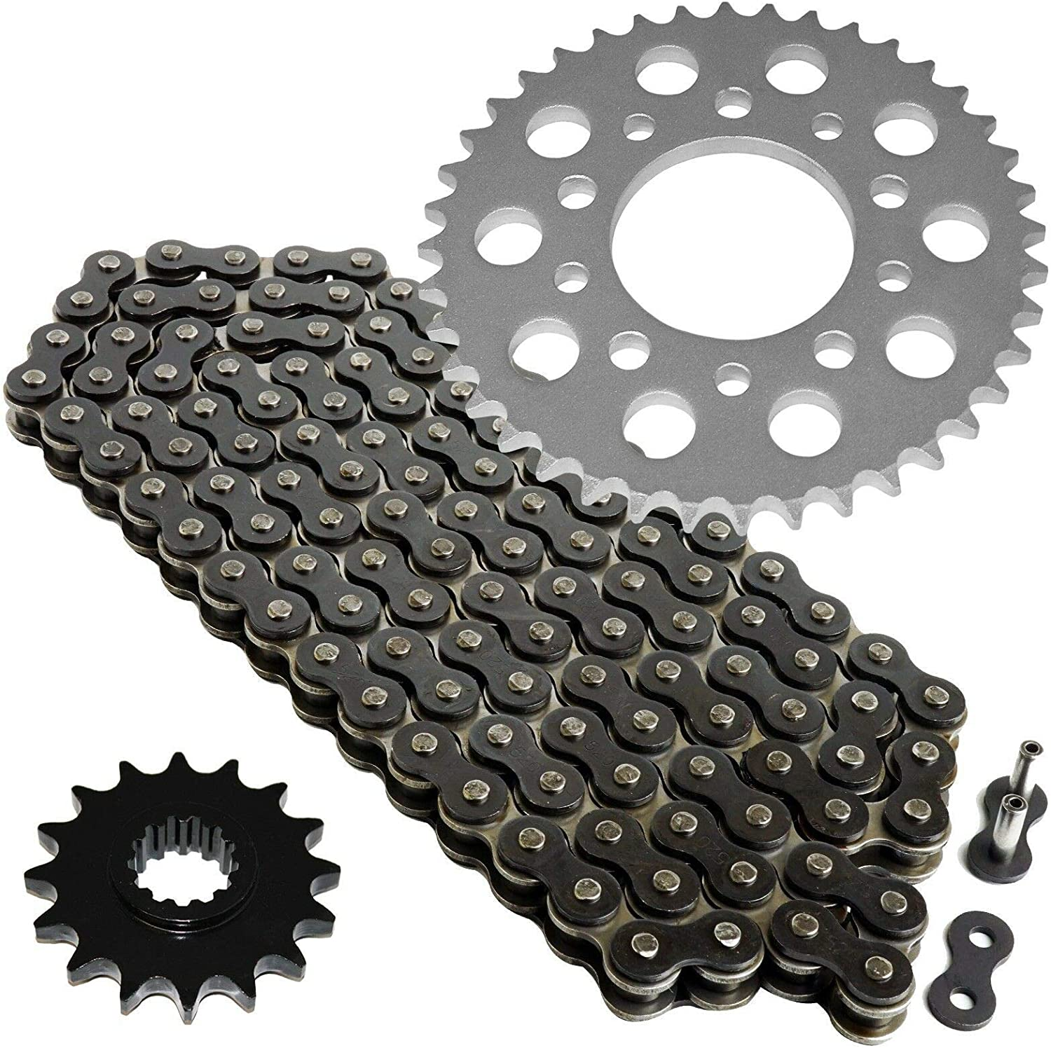 Caltric Red Drive Chain and Sprocket Kit compatible with Honda VF500C V30 Magna 1984 1985