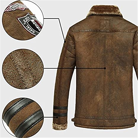 uygmxdnxg Mens Faux Fur Lined Stand Collar Thicken Chamarra Cálida Escudo Abrigo Trench Coat Peacoat at Amazon Mens Clothing store: