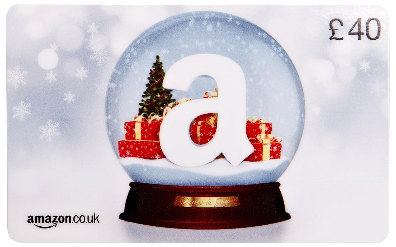 Amazon.co.uk Gift Card - In a Gift Box - £40 (Christmas Globe ...