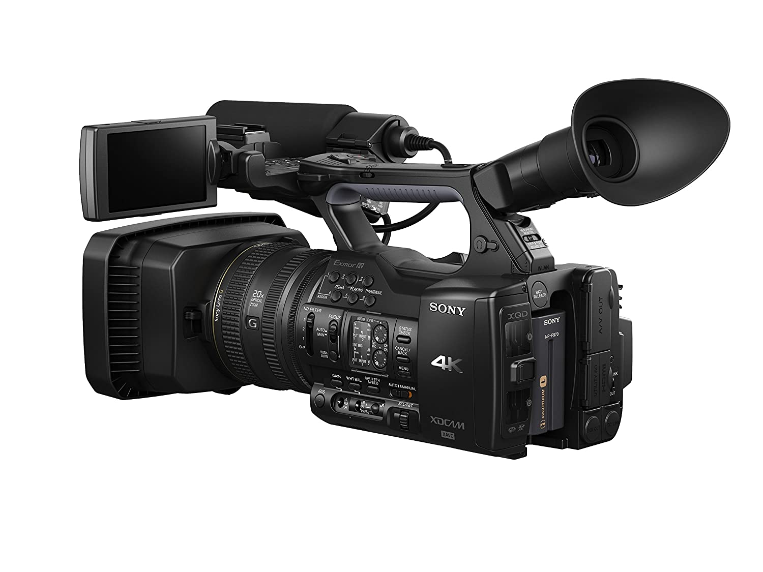 sony 4k. amazon.com : sony pxwz100 4k handheld xdcam memory camcorder (black) camera \u0026 photo 4k