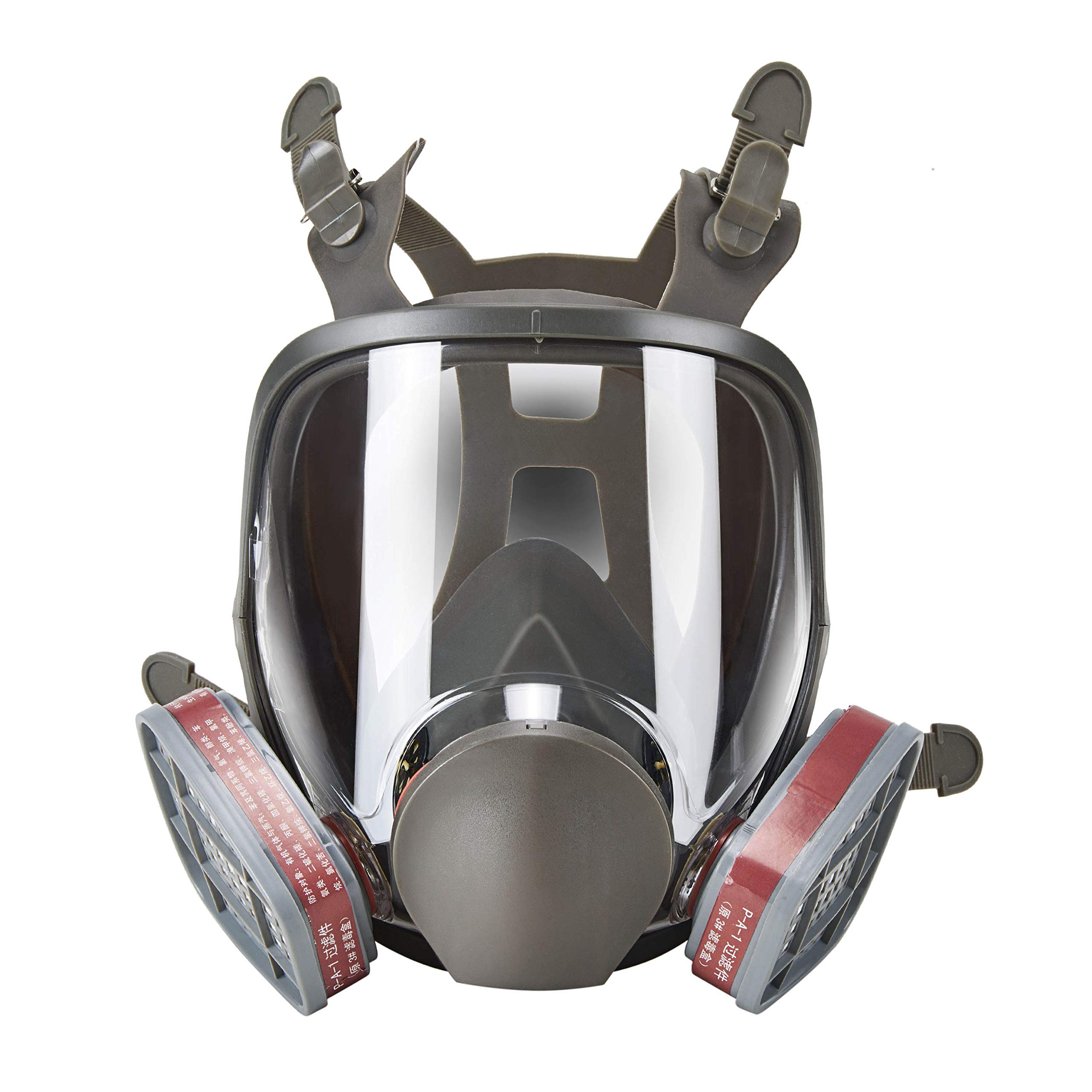 Holulo Full Face Facepiece Respirator Paint Spray Mask with 2 x Organic Vapor Cartridges by Holulo (Image #8)