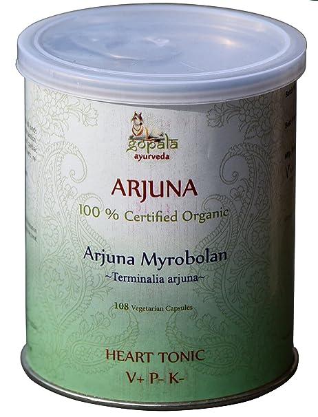 Arjuna (Terminalia Arjuna) en cápsulas vegetales 108 Vcaps (500 mg), Certificado