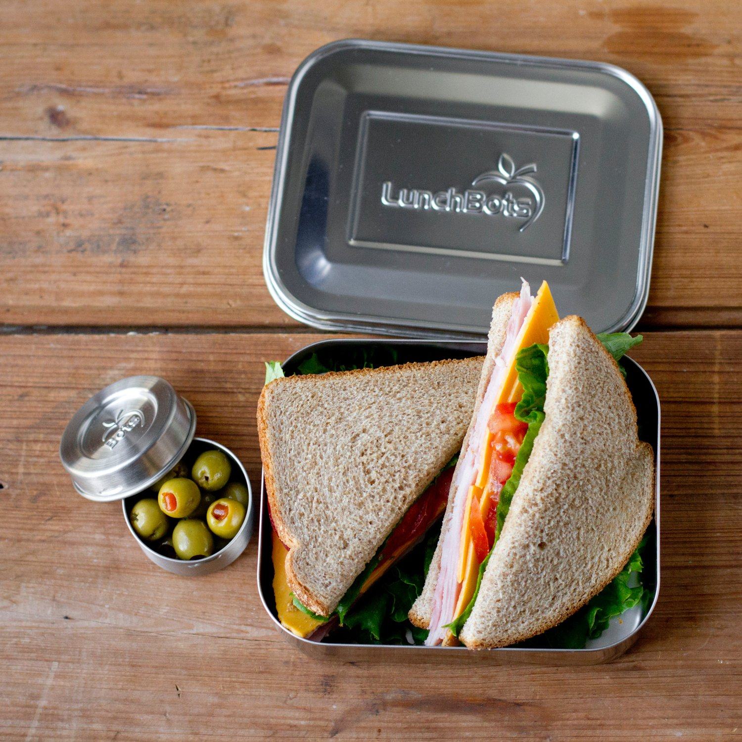 amazon com lunchbots uno stainless steel food container open