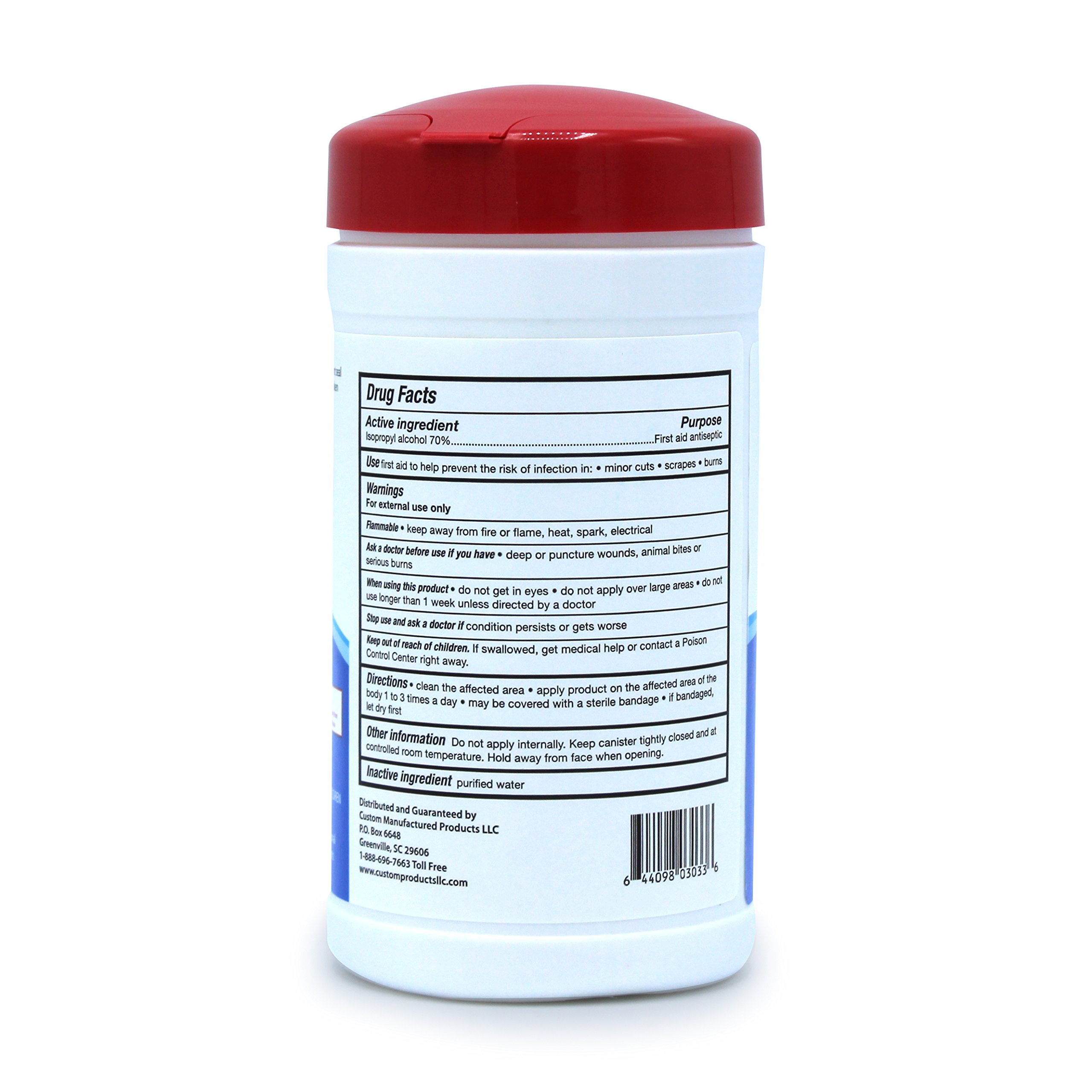 Pharma-C-Wipes 70% Isopropyl Alcohol Wipes, First Aid Antiseptic to Help Prevent the Risk of Infection in Minor Cuts, Scrapes and Burns (6 Canisters of 40 Wipes, 240 Wipes Total) by Pharma-C-WipesTM (Image #2)