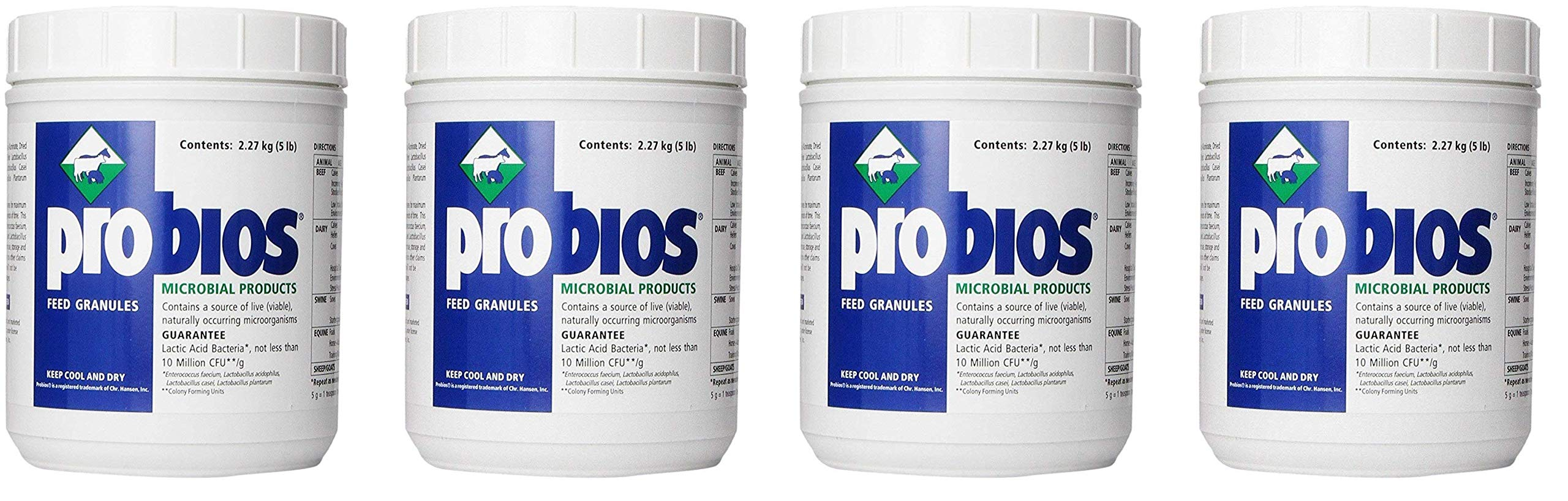 Probios VETS Plus Feed Granule for Horses, 5-Pound (4-(Pack))