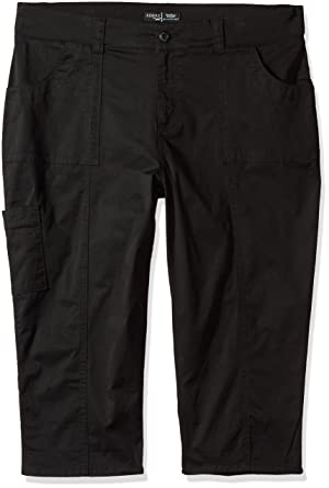 3dfd706d7b6 Riders by Lee Indigo Women s Plus Size Cuffed Cargo Pocket Skimmer Pant at  Amazon Women s Clothing store