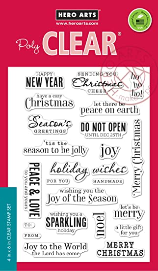 Nice Hero Arts CM100 Christmas Messages Card Making Kit