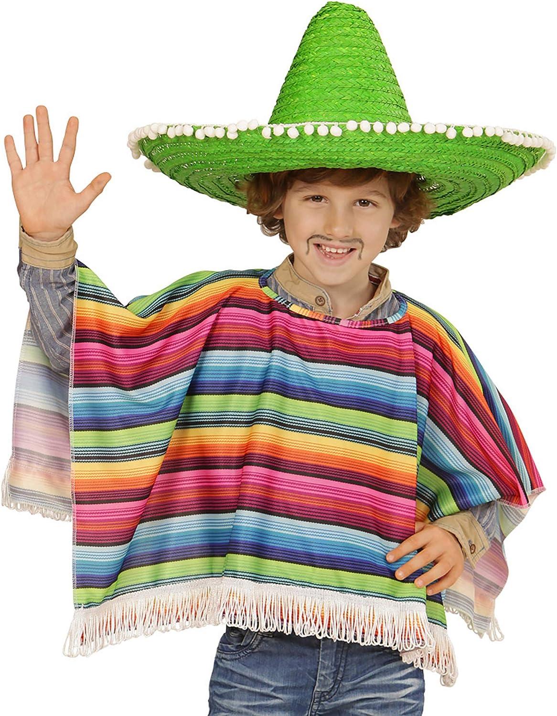 WIDMANN Poncho mejicano multicolor para niño: Amazon.es: Juguetes ...
