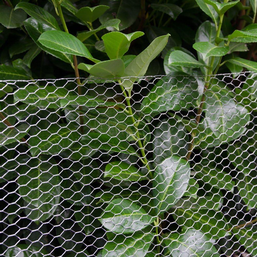 Niederberg Metall Mallas de Alambre Valla para Animales y Plantas 25 m de Largo Valla de Tela Met/álica Malla Hexagonal 13x13mm Galvanizada 0,9mm Altura 50 cm